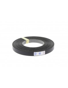 Folie cant negru striat 21mm