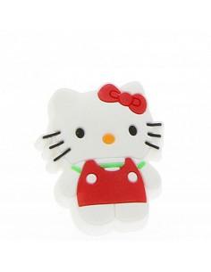 Buton pisica alb/rosu din...