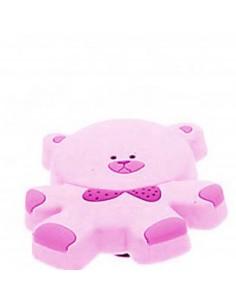 Buton urs roz din plastic...